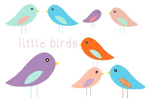 Little Birds Clip Art