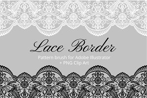 Lace Brushes (AI, EPS, PNG)