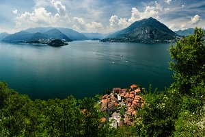 Top view on Lago di Como