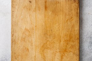 Wooden cutting board background