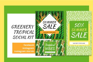 Greenery Tropical Social Media Kit