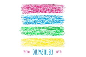 Oil pastel design elements