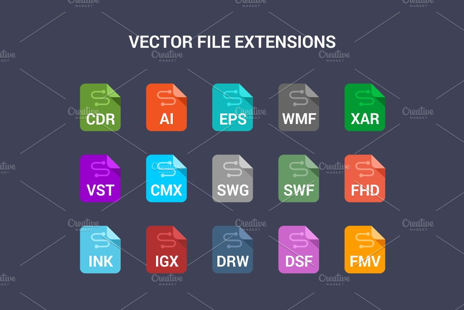 90 File Type Colored Flat Icons Set in UI Icons - product preview 2