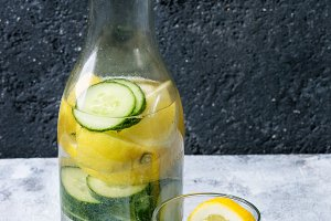 Citrus cucumber sassy water