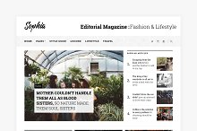 Sophia - Magazine WordPress Theme by Raghav Joshi in Magazine