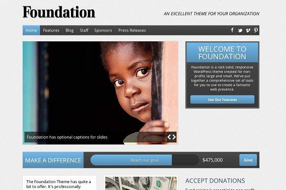 Foundation Nonprofit WordPress Theme