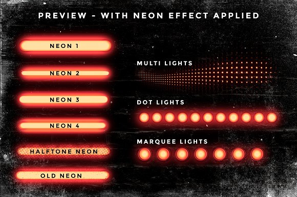Set of 9 Neon Procreate brushes in Photoshop Brushes - product preview 7