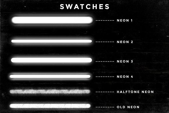 Set of 9 Neon Procreate brushes in Photoshop Brushes - product preview 8