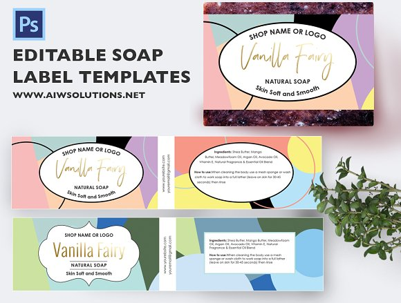 Soap Label id21 in Flyer Templates