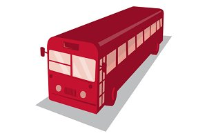 vintage shuttle bus coach retro