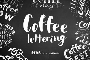 Coffee Lettering Pack