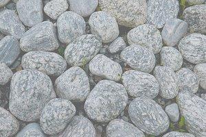 Rounded white stones