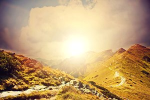 Colorfull nature mountains landscape