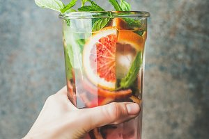Blood orange citrus lemonade