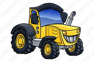 Tractor Vehicle Cartoon