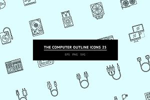 The Computer Outline Icons 25