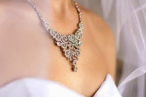 Magnificent crystal necklace