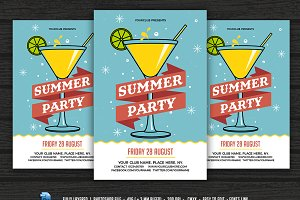 Summer Party / Cocktail Party flyer