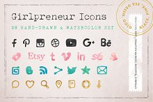 Girlpreneur Hand-drawn Icons