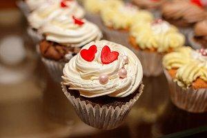 Closeup of cupcake