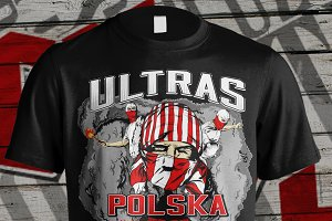 Ultras design illustration Polska