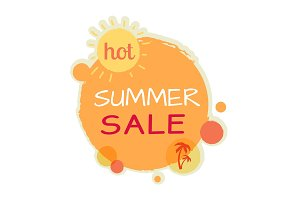 Hot Summer Sale Round Banner. Best Quality Price