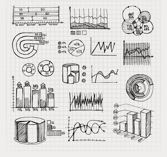 hand drawn business charts ~ Icons ~ Creative Market