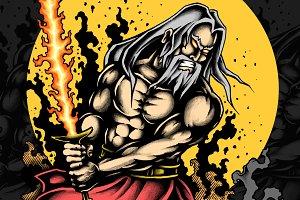 Warrior Old Man