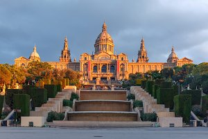 Spain square or Placa De Espanya, Barcelona, Spain