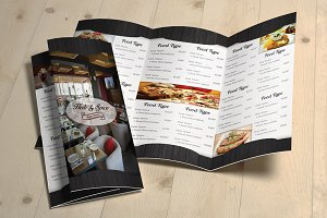 Tri-Fold Menu & Business Card