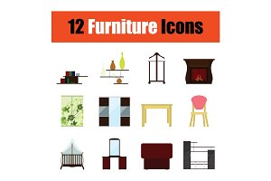 Home furniture icon