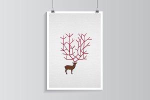 Red nose deer.