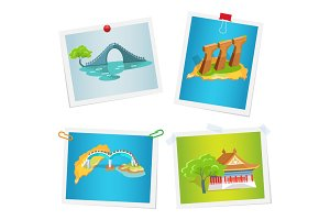 Taiwanese Attractions on Images Attached to Wall