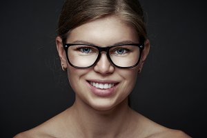 Beauty woman in eyeglasses