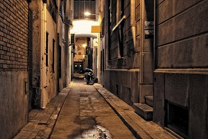 lonely street at night