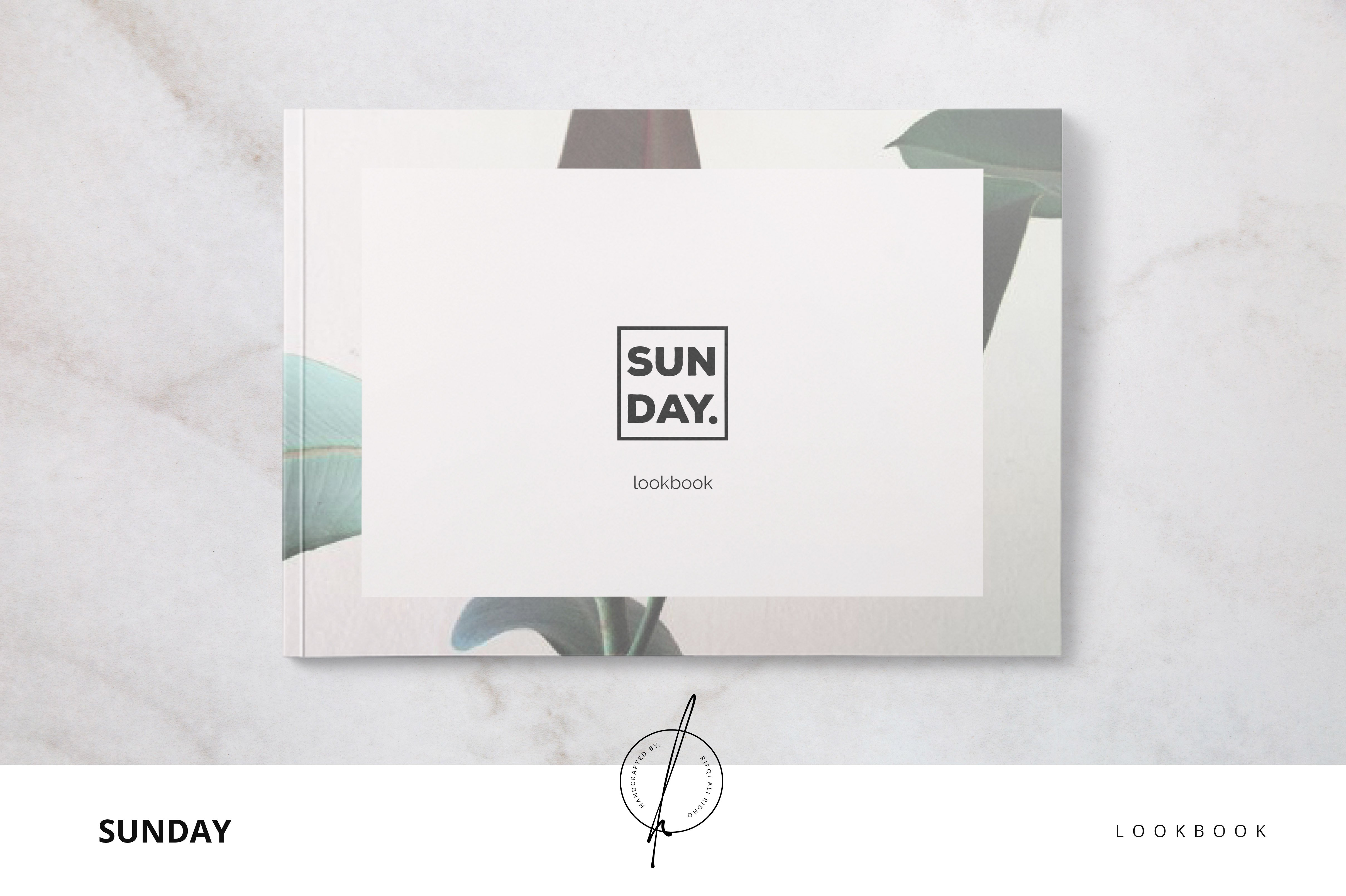 sunday lookbook brochure templates creative market