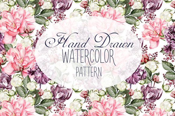 10 Hand Drawn Watercolor Pattern