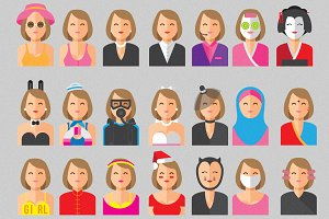 Smiley Woman Avatars (Intro Sale)