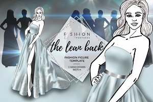 Fashion figure template-The Leanback