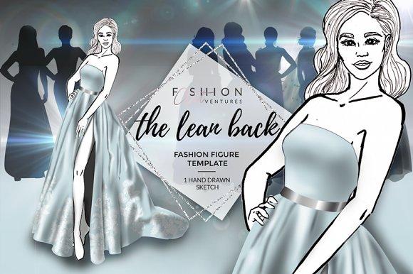 Fashion figure template-The Leanback