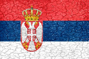 Serbia Grunge Style National Flag