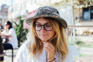 Urban nomad woman traveller