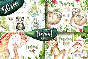 50% off Tropical animals bundle