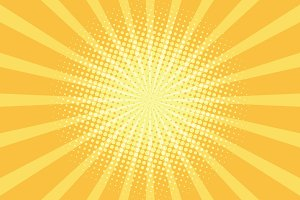 yellow rays pop art background
