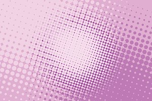 pink halftone pop art background
