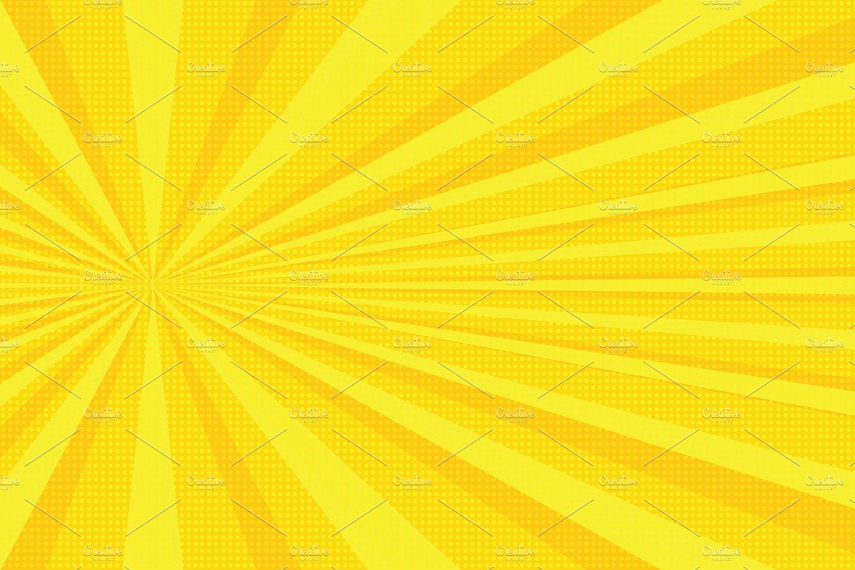 yellow rays pop art background textures creative market