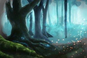 Illustration fantasy forest