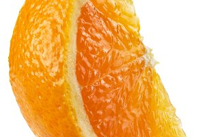 Segment of orange fruit.