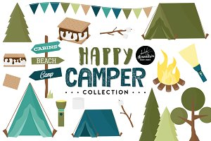 Happy Camper Graphics & Patterns