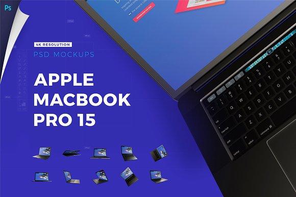 Apple Macbook Pro 15 4K Mockups